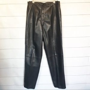 Vintage 90's Butter Soft Leather High Waisted Pant